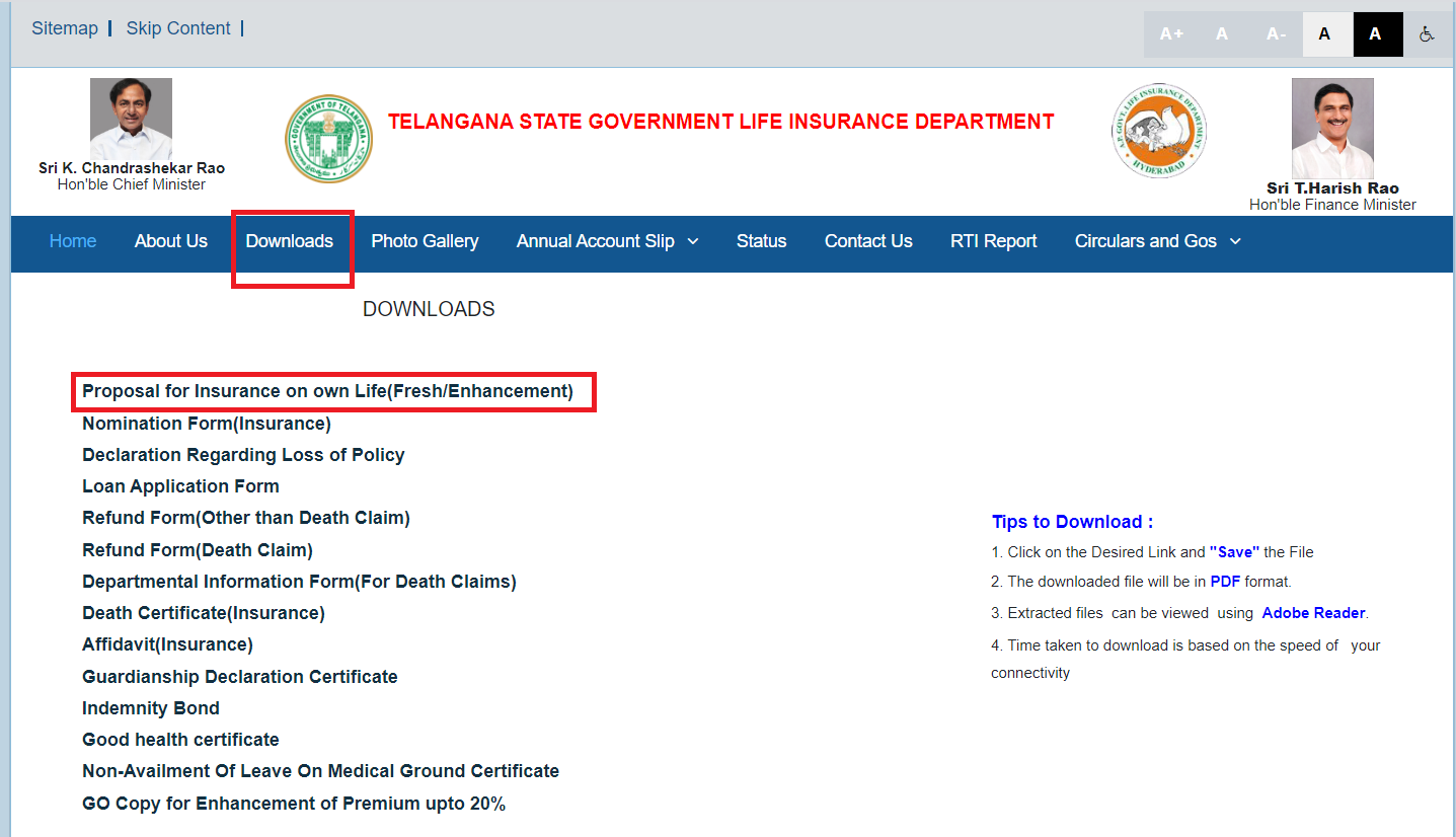 How to Track the TSGLI Application Status tsgli.telangana.gov.in